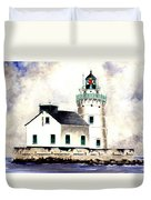 West Pierhead Lighthouse Duvet Cover