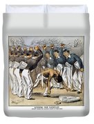 West Point Cartoon, 1880 Duvet Cover