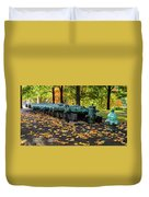 West Point Fall Leaves Duvet Cover