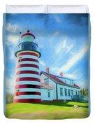 West Quaddy Head Lighthouse Duvet Cover