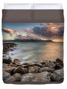 West Shore Sunset Duvet Cover