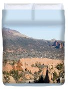 West Springs And Distant Garden Of The Gods Duvet Cover