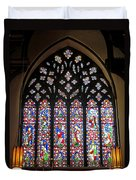 West Stained Glass Window Christ Church Cathedral 1 Duvet Cover