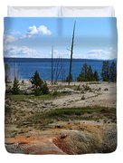 West Thumb Geyer At Yellowstone Lake Duvet Cover