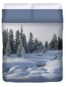 West Thumb Snow Pillows Duvet Cover