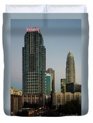 West Trade Street Downtown Charlotte North Carolina Duvet Cover