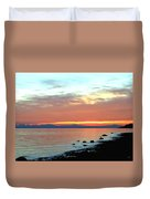 West Vancouver Sunset Duvet Cover
