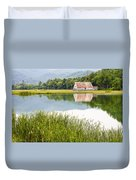 West Virginia Barn Reflected In Pond   Duvet Cover