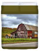 West Virginia Barn Duvet Cover