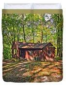 West Virginia Cabin Duvet Cover