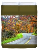West Virginia Curves Duvet Cover