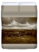 West Virginia Overcast Duvet Cover