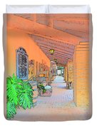 Western Alley Drawing 1 Duvet Cover