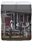 Western Cowboy Re-enactors At 1880 Town Duvet Cover