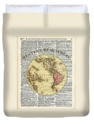Western Hemisphere Earth Map  Duvet Cover by Anna W
