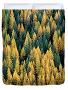 Western Larch Forest Duvet Cover