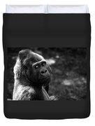 Western Lowland Gorilla Closeup Duvet Cover