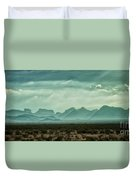 Western Mountains Duvet Cover