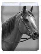Western Quarter Horse Black And White Duvet Cover