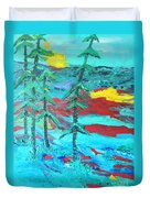 Western Sunset Duvet Cover