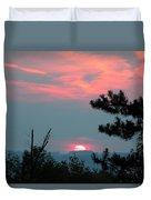 Western Sunset Sun On The Horizon Duvet Cover