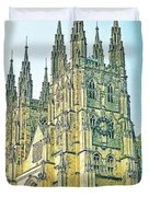 Westminster Abbey Postcard Duvet Cover