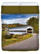 Westport Covered Bridge Duvet Cover by Jack R Perry