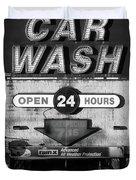 Westside Highway Car Wash Nyc Duvet Cover