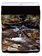 Rocks And Water In Autumn Duvet Cover