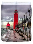 Wet At Grand Haven Duvet Cover