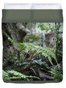 Wet Ferns Duvet Cover