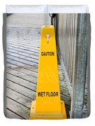 Wet Floor Warning Duvet Cover