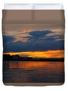Wet Sand And Clouds Duvet Cover
