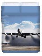 Wet Takeoff Kc-135 Duvet Cover