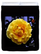 Wet Yellow Rose  Duvet Cover