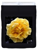 Wet Yellow Rose II Duvet Cover