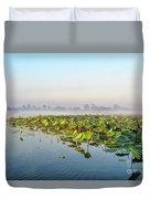 Wetlands Morning Mist  Duvet Cover