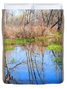 Wetlands Viewing Area In Chatfield State Park Duvet Cover