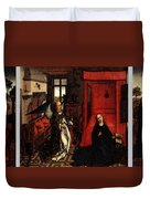 Weyden Annunciation Triptych Duvet Cover