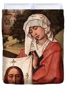 Weyden Crucifixion Triptych  Right Wing  Duvet Cover