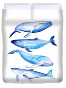 Whale Friends Duvet Cover