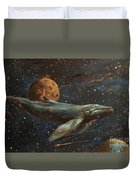 Whale Of The Universe Duvet Cover