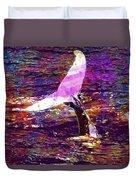 Whale Tail Ocean Animal Sea Water  Duvet Cover