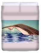 Whale Tail    Pastel   Sold Duvet Cover