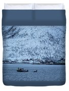 Whale Watching Duvet Cover