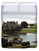 Whalehead Club And Boathouse Duvet Cover