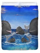 Whales Tail Waterfall Duvet Cover