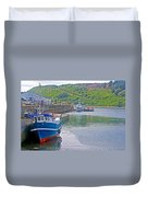 Wharf Near Angelmo Fish Market In Puerto Montt-chile  Duvet Cover