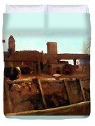 Wharf Scene Duvet Cover