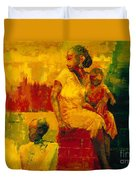 What Is It Ma Duvet Cover by Bayo Iribhogbe